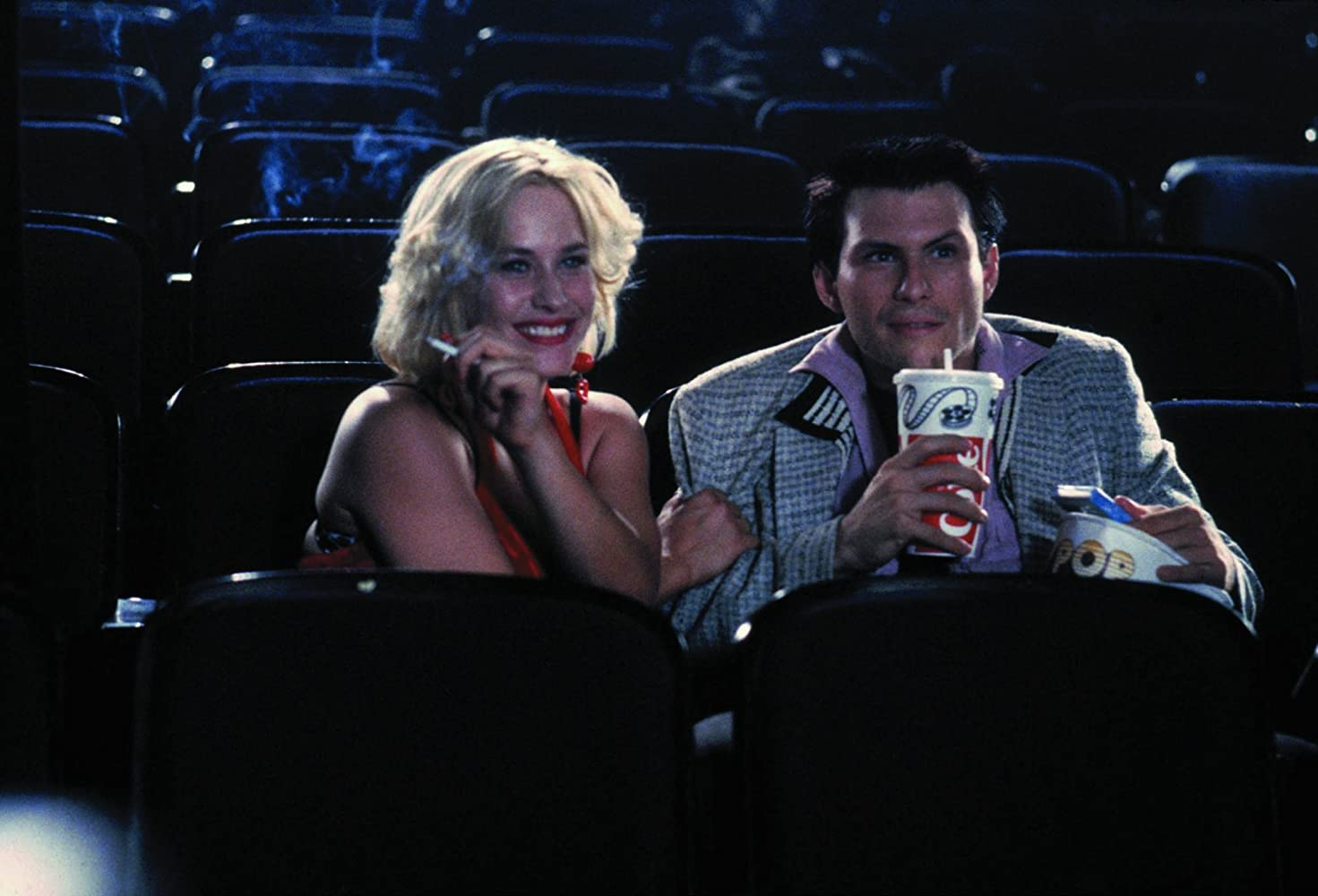 Patricia Arquette and Christian Slater in True Romance 1993