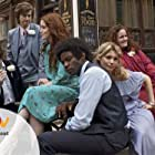 Lee Ingleby, David Gyasi, MyAnna Buring, Reece Ritchie, Jessica Gunning, Claire Foy, and Sam Claflin in White Heat (2012)
