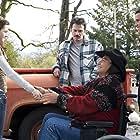 Gil Birmingham, Billy Burke, Kristen Stewart, and Taylor Lautner in Twilight (2008)