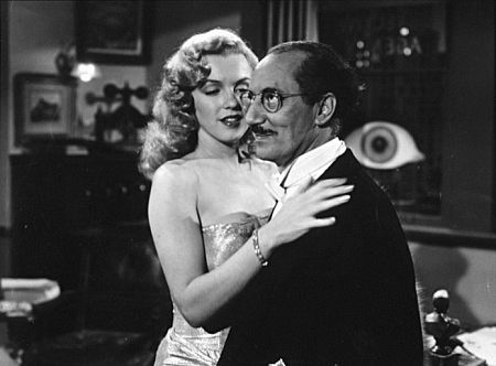 "M. Monroe &  Groucho Marx ""Love Happy"" 1950"