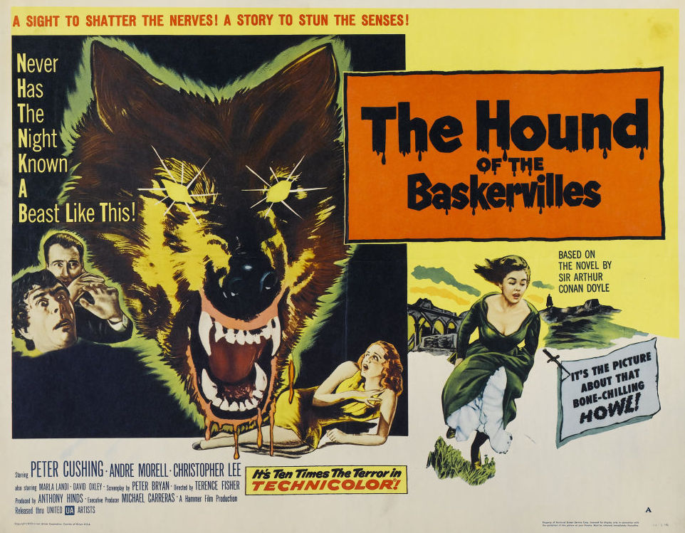 Christopher Lee and David Oxley in The Hound of the Baskervilles (1959)
