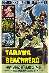 Julie Adams, Ray Danton, Kerwin Mathews, and Paul Wendkos in Tarawa Beachhead (1958)