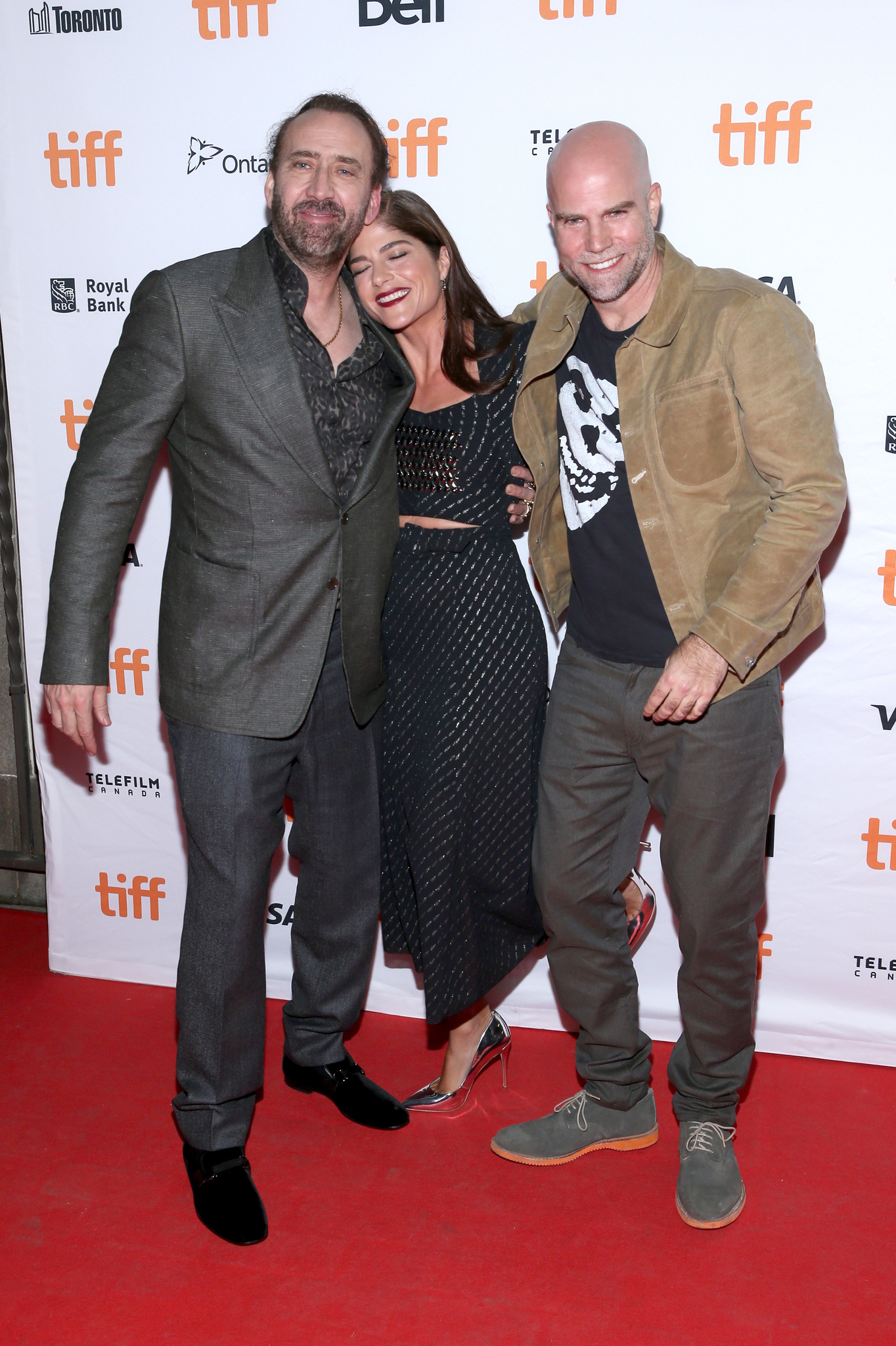 Nicolas Cage, Selma Blair, and Brian Taylor at an event for Mom and Dad (2017)