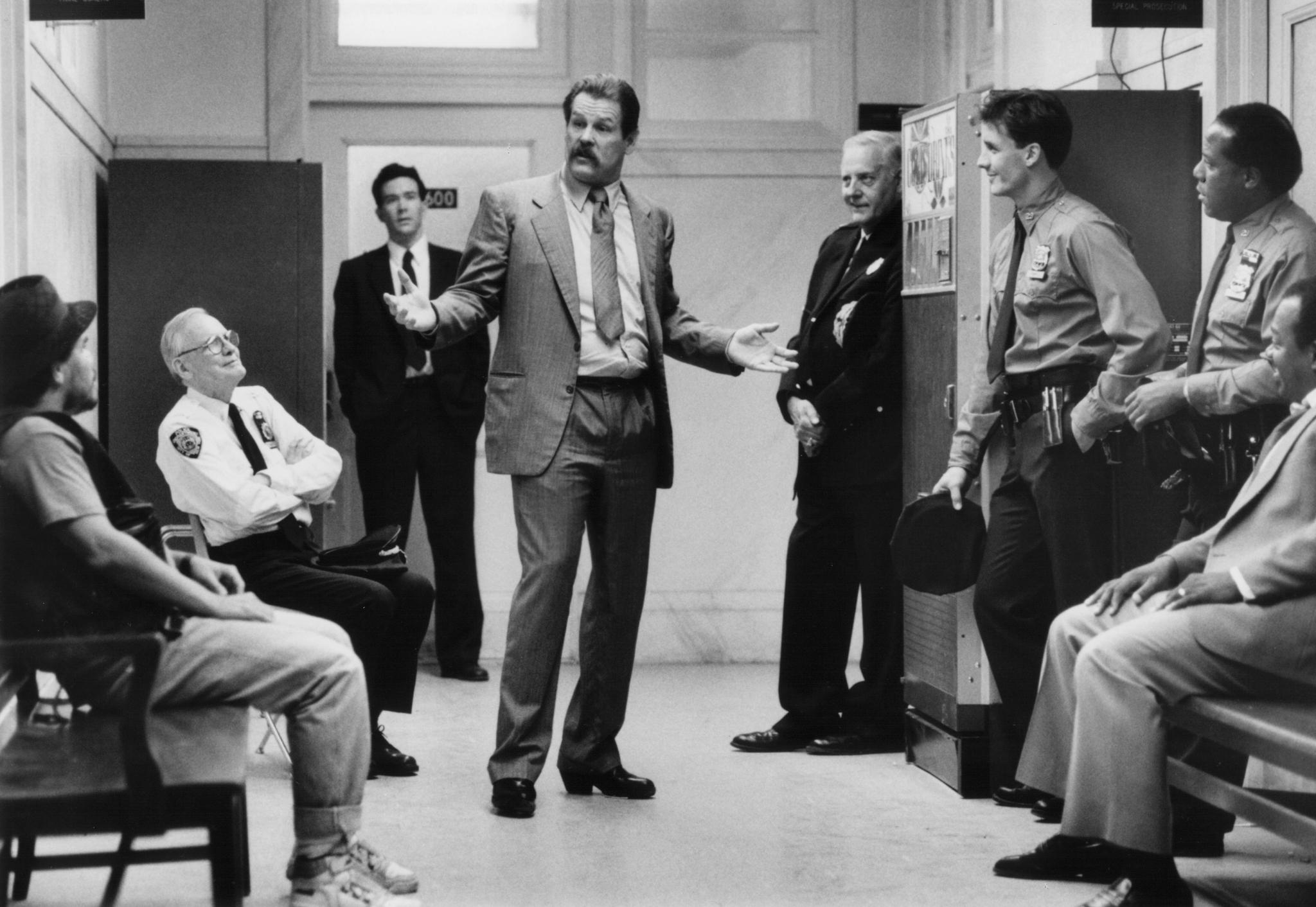Timothy Hutton, Nick Nolte, and Luis Guzmán in Q & A (1990)