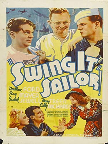 Wallace Ford, Max Hoffman Jr., Isabel Jewell, Ray Mayer, and Mary Treen in Swing It, Sailor! (1938)