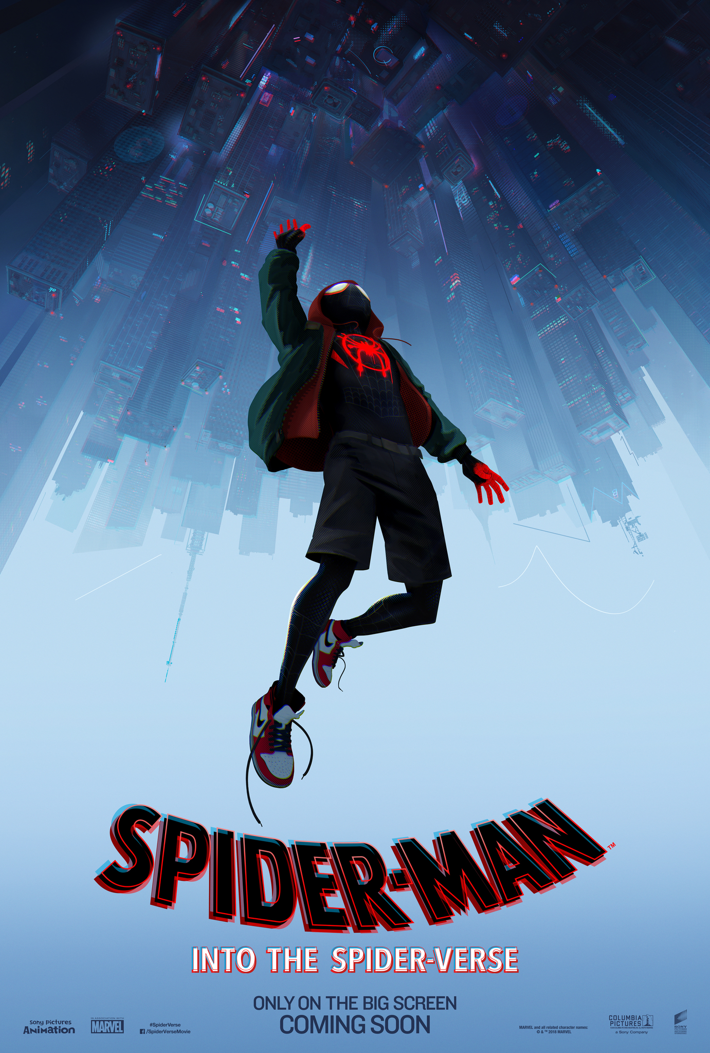 Image result for into the spider verse movie poster imdb""