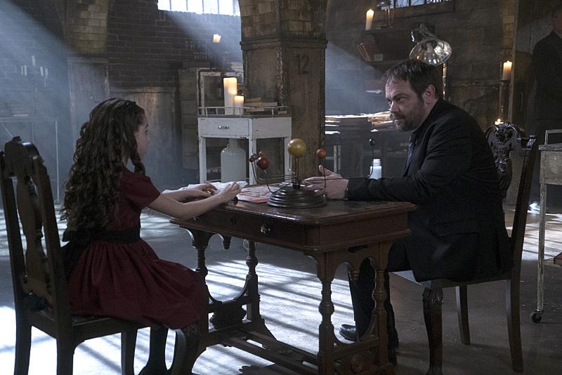 Mark Sheppard and Gracyn Shinyei in Supernatural (2005)