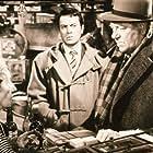 Gabrielle Fontan, Jean Gabin, and Robert Hirsch in Maigret et l'affaire Saint-Fiacre (1959)