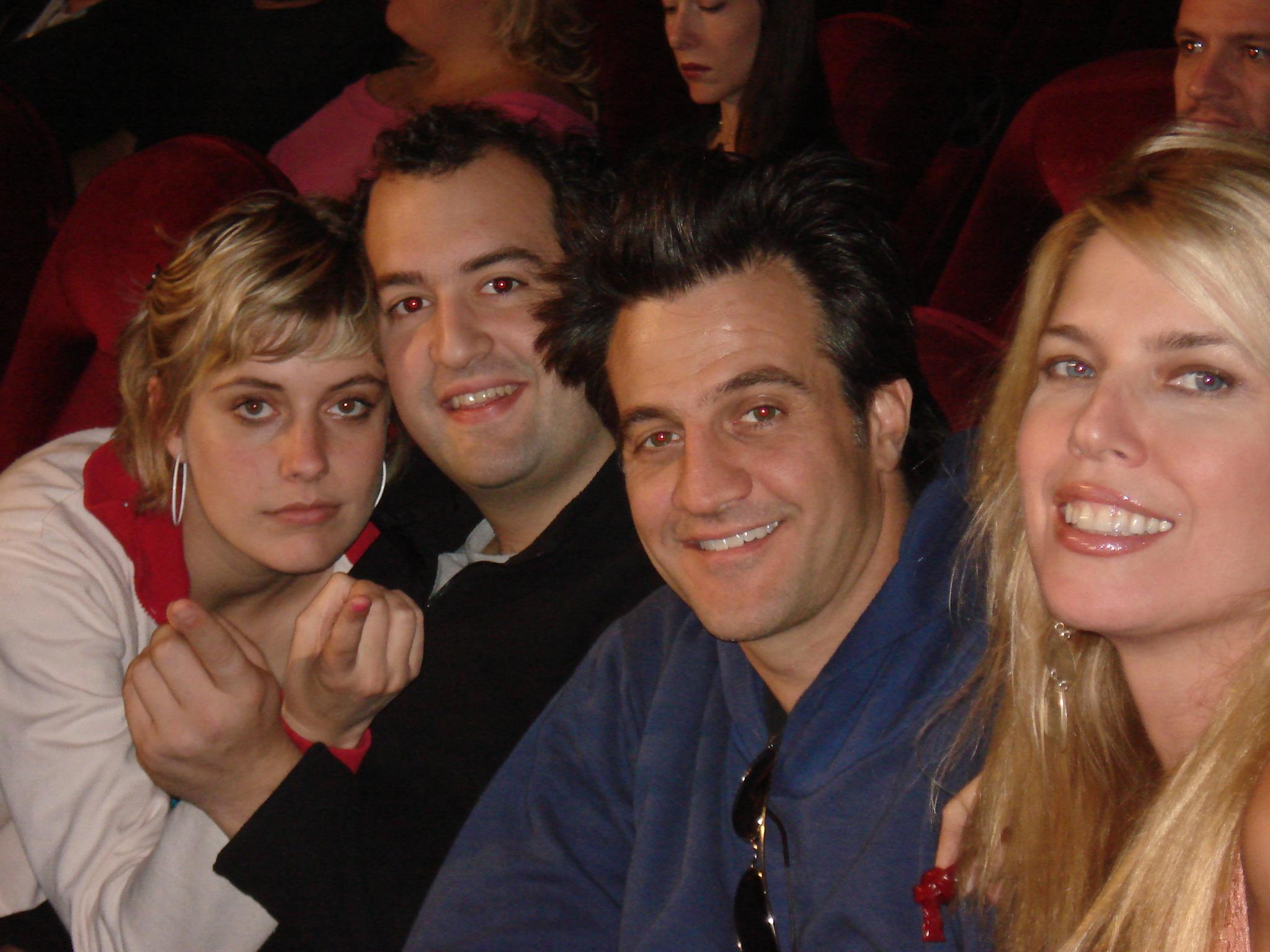 Elise Muller, Ross Partridge, Steve Zissis, and Greta Gerwig in Baghead (2008)