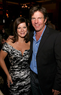 Dennis Quaid and Marcia Gay Harden at an event for American Dreamz (2006)