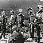 Spencer Tracy, Robert Wagner, Richard Widmark, Earl Holliman, and Hugh O'Brian in Broken Lance (1954)