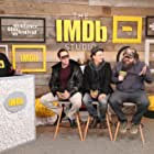 Nicolas Cage, Kevin Smith, Panos Cosmatos, and Linus Roache at an event for Mandy (2018)