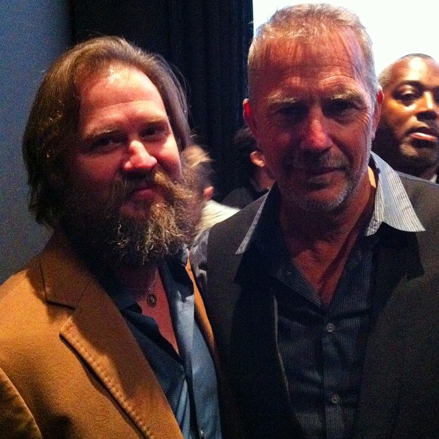 With Kevin Costner at a private screening of Black or White.