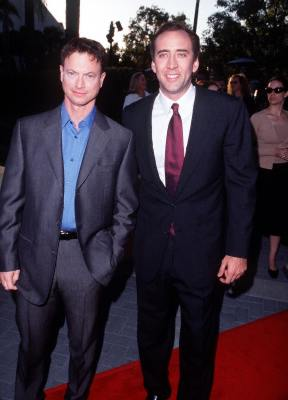 Nicolas Cage and Gary Sinise at an event for Snake Eyes (1998)