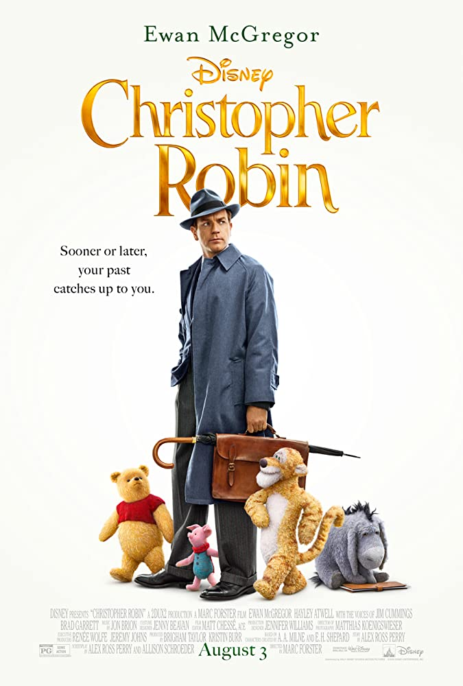 Ewan McGregor, Brad Garrett, Jim Cummings, and Nick Mohammed in Christopher Robin (2018)