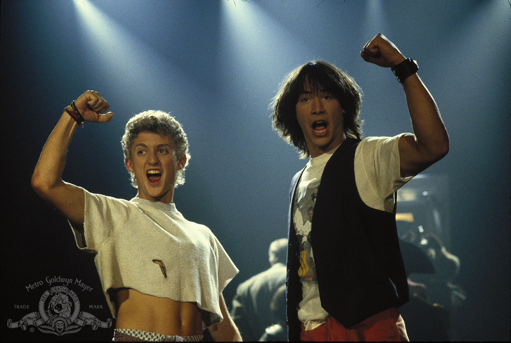 Keanu Reeves and Alex Winter in Bill & Ted's Excellent Adventure (1989)