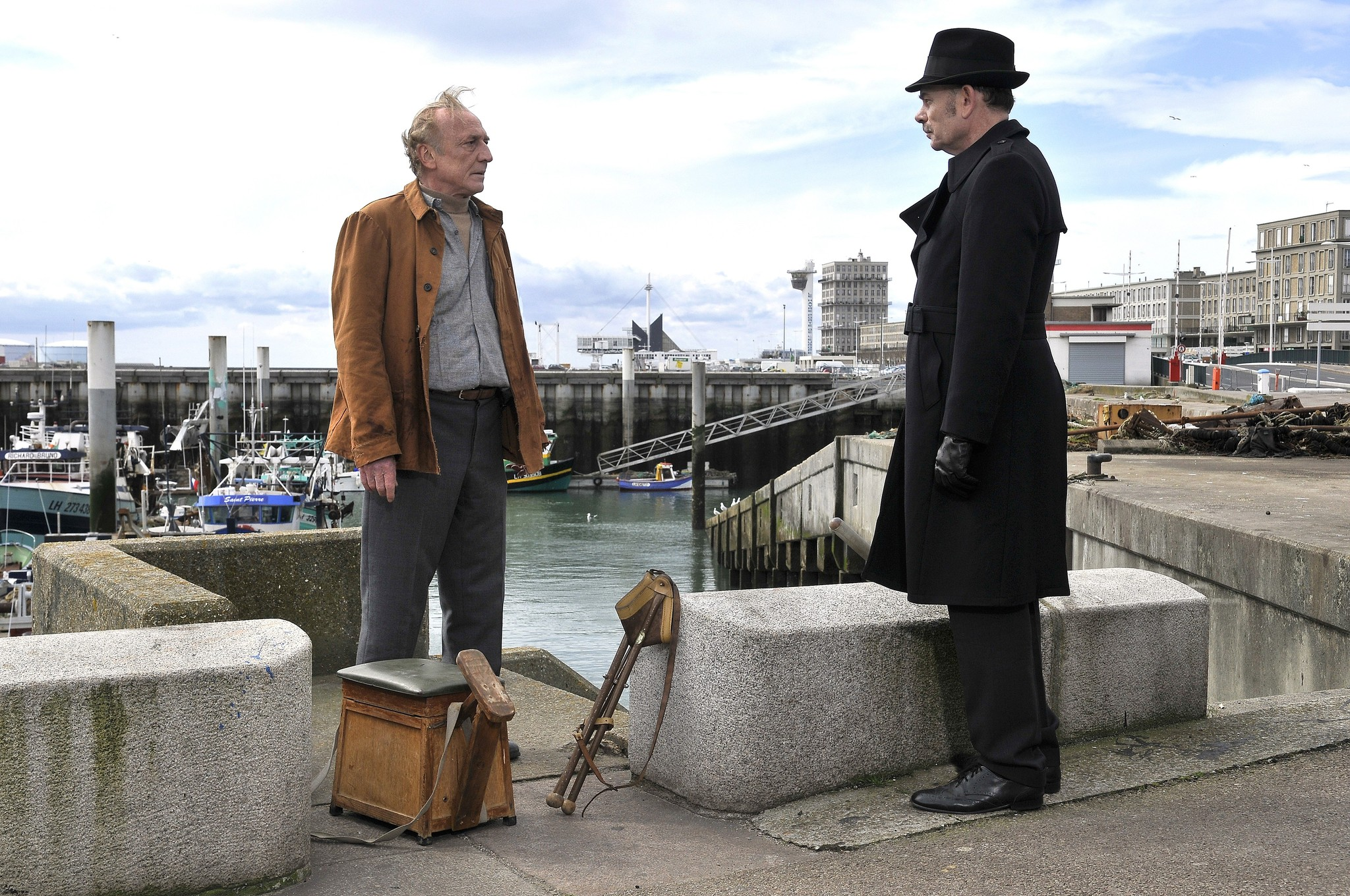 Jean-Pierre Darroussin and André Wilms in Le Havre (2011)