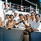 Frits Helmuth, Ebbe Langberg, Johannes Meyer, Dirch Passer, Mogens Pedersen, Ove Sprogøe, and Axel Strøbye in Styrmand Karlsen (1958)