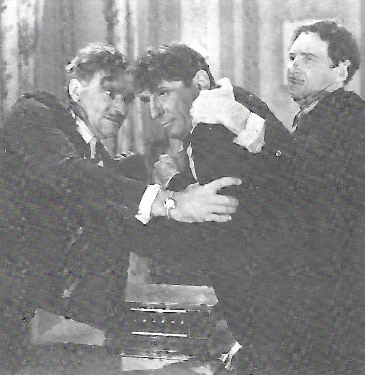Robert Fiske, Victor Jory, and Lewis Sargent in The Shadow (1940)