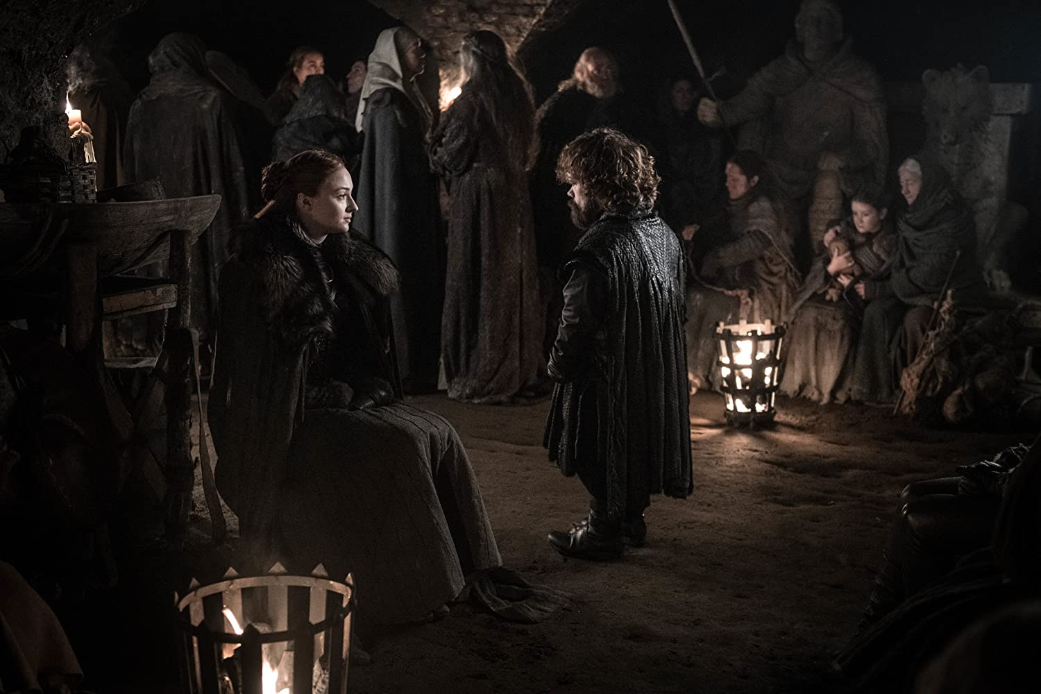 Peter Dinklage and Sophie Turner in Game of Thrones (2011)
