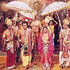 Deepika Chikhalia, Sunil Lahri, Dara Singh, Sanjay Jog, Samir Rajda, and Arun Govil in Ramayan (1987)