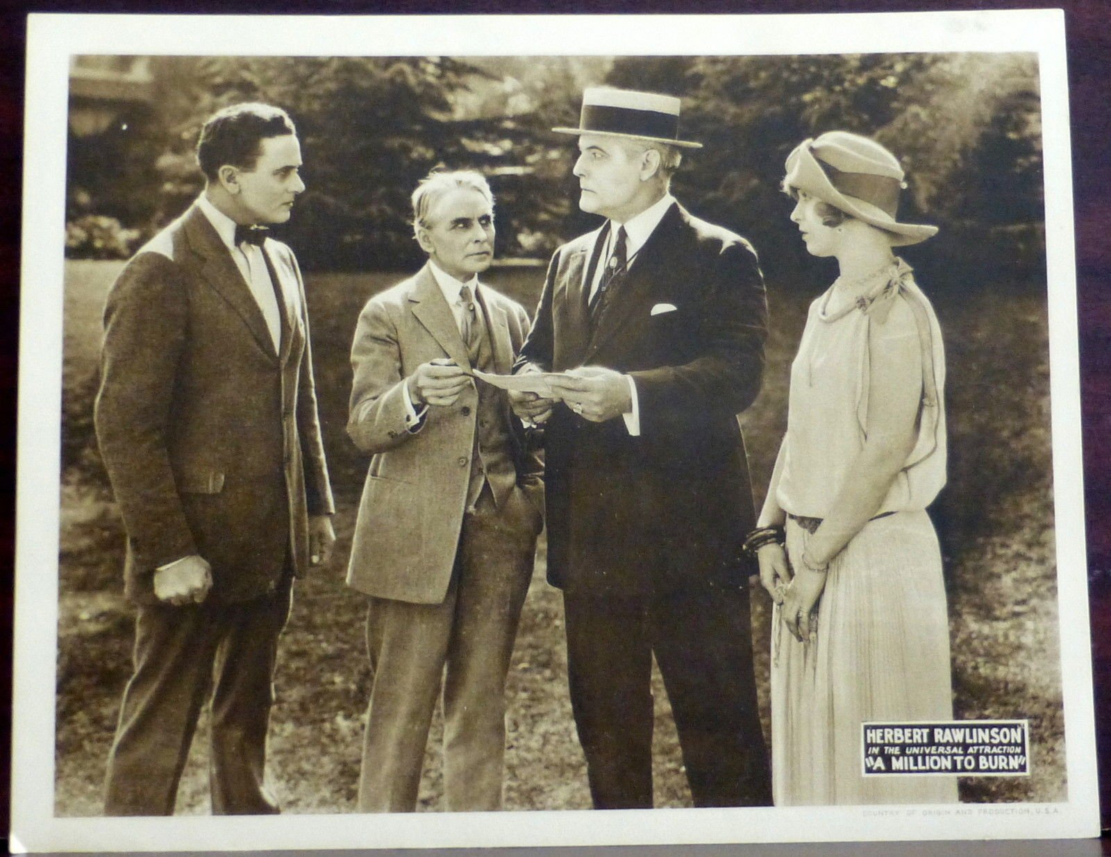 Beatrice Burnham, George F. Marion, Tom McGuire, and Herbert Rawlinson in A Million to Burn (1923)