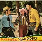 Evelyn Finley, John 'Dusty' King, and David Sharpe in Trail Riders (1942)