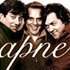 Dharmendra, Bobby Deol, and Sunny Deol in Apne (2007)