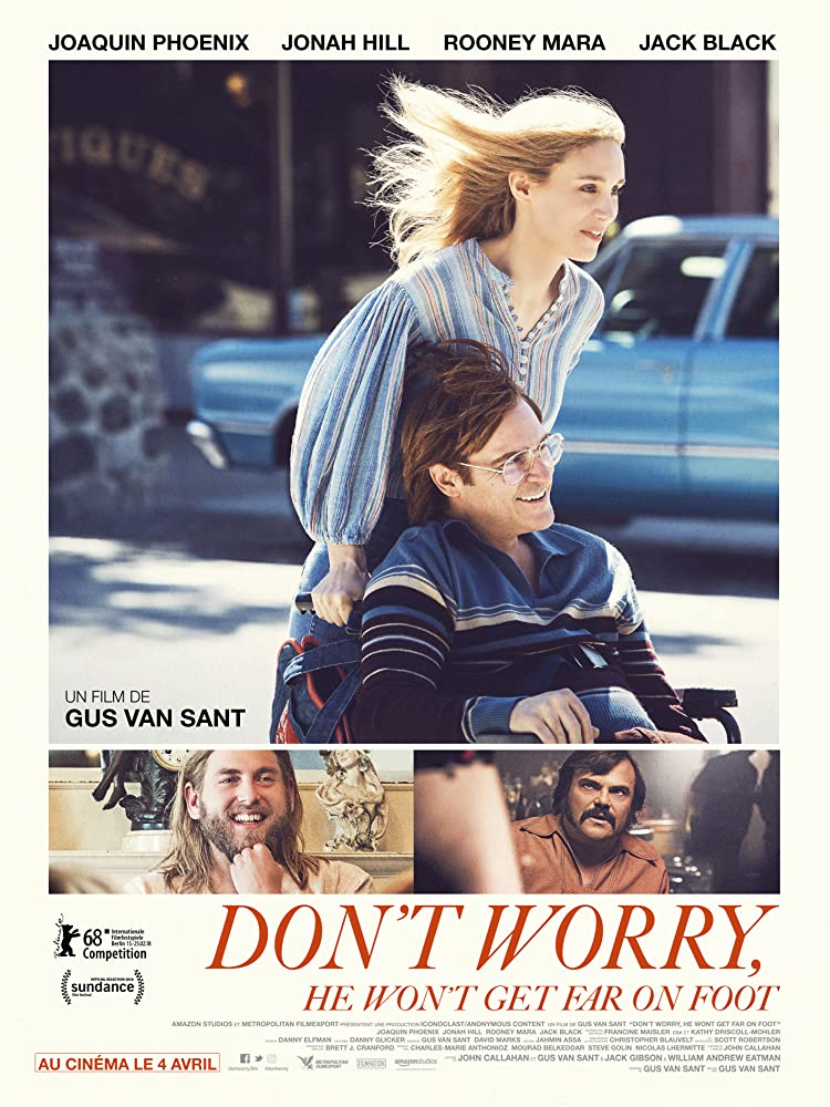 Joaquin Phoenix, Jack Black, Jonah Hill, and Rooney Mara in Don't Worry, He Won't Get Far on Foot (2018)
