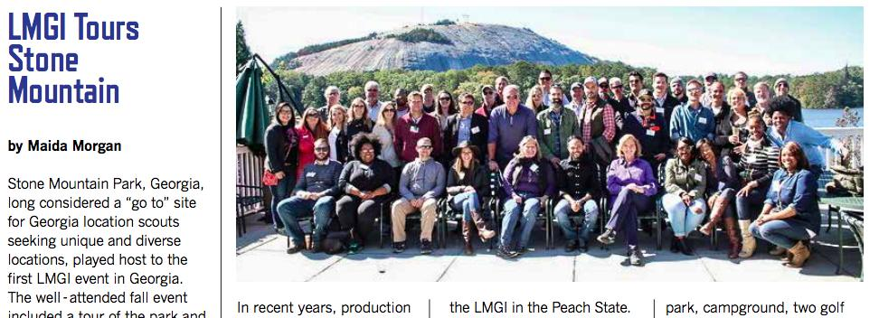 Dodd in the center of the LMGI photo during the tour of Stone Mountain.
