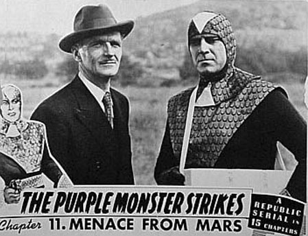 Roy Barcroft and James Craven in The Purple Monster Strikes (1945)