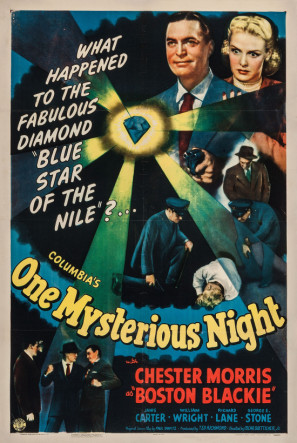 Janis Carter and Chester Morris in One Mysterious Night (1944)