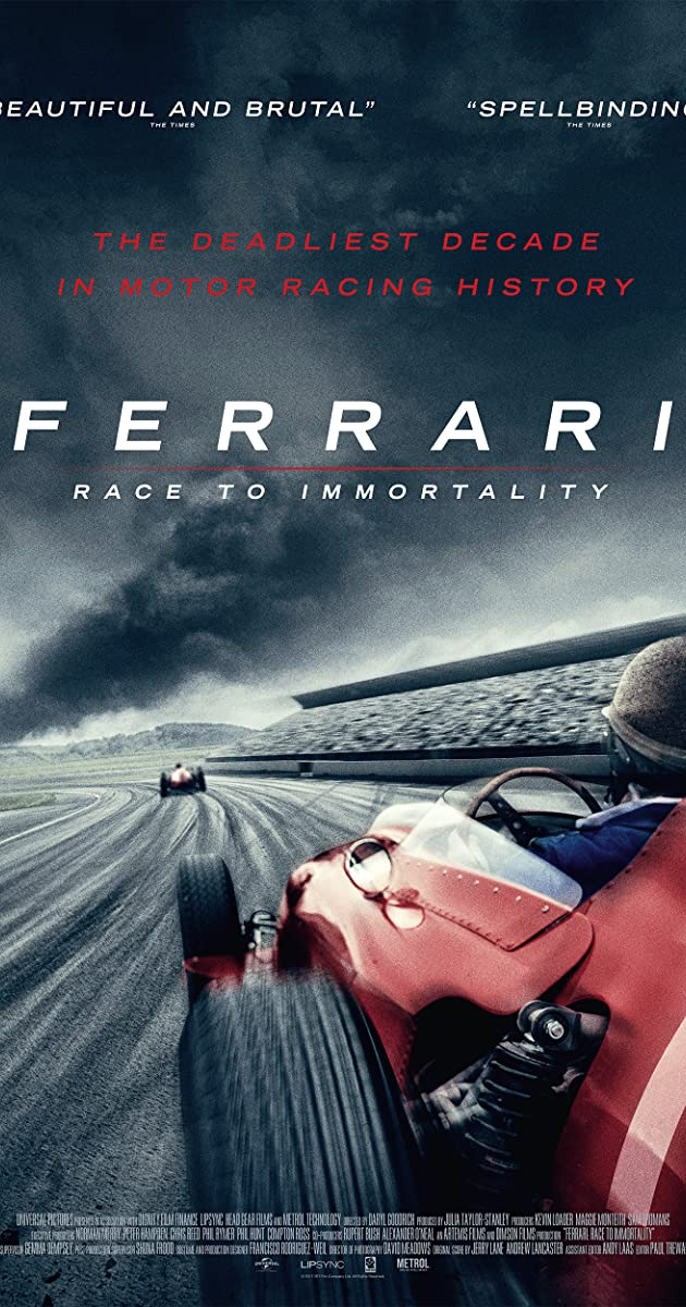 Subtitle of Ferrari: Race to Immortality
