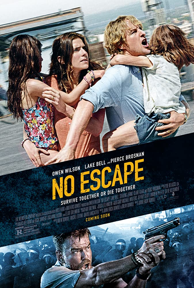Pierce Brosnan, Owen Wilson, Sahajak Boonthanakit, Lake Bell, Sterling Jerins, and Claire Geare in No Escape (2015)