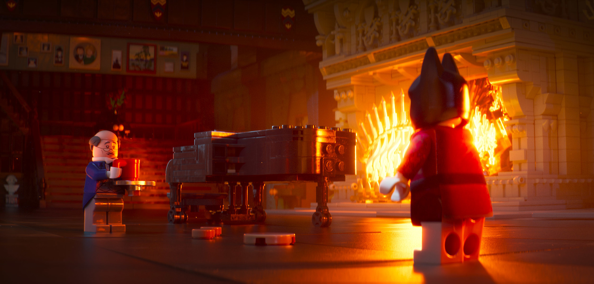 Ralph Fiennes and Will Arnett in The Lego Batman Movie (2017)