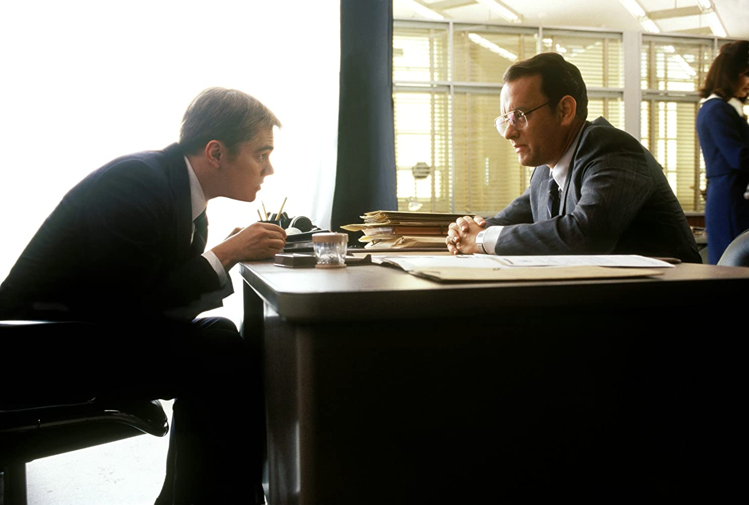 Leonardo DiCaprio and Tom Hanks in Catch Me If You Can (2002)