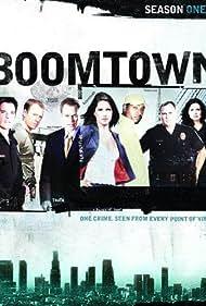 Jason Gedrick, Donnie Wahlberg, Gary Basaraba, Nina Garbiras, Neal McDonough, Lana Parrilla, and Mykelti Williamson in Boomtown (2002)