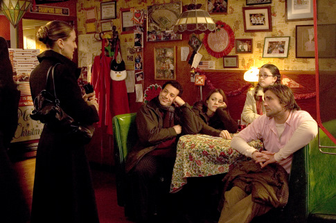 Sarah Jessica Parker, Luke Wilson, Rachel McAdams, Tyrone Giordano, and Savannah Stehlin in The Family Stone (2005)