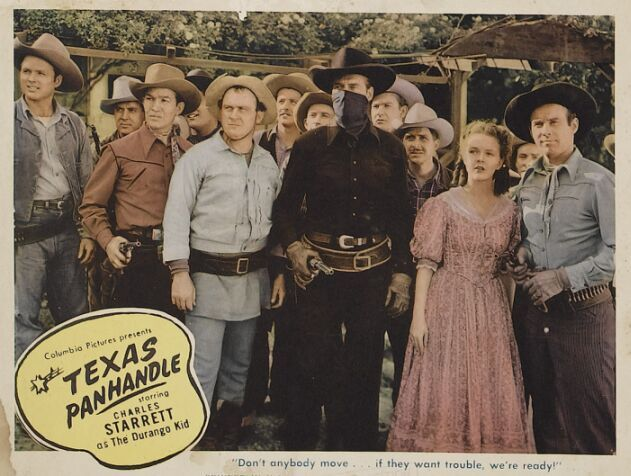 Spade Cooley, Tex Harding, Nanette Parks, Deuce Spriggins, Charles Starrett, Dub Taylor, Tex Williams, and Spade Cooley Band in Texas Panhandle (1945)