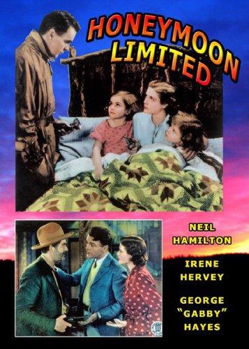 Joy Filmer, June Filmer, Neil Hamilton, George 'Gabby' Hayes, and Irene Hervey in Honeymoon Limited (1935)
