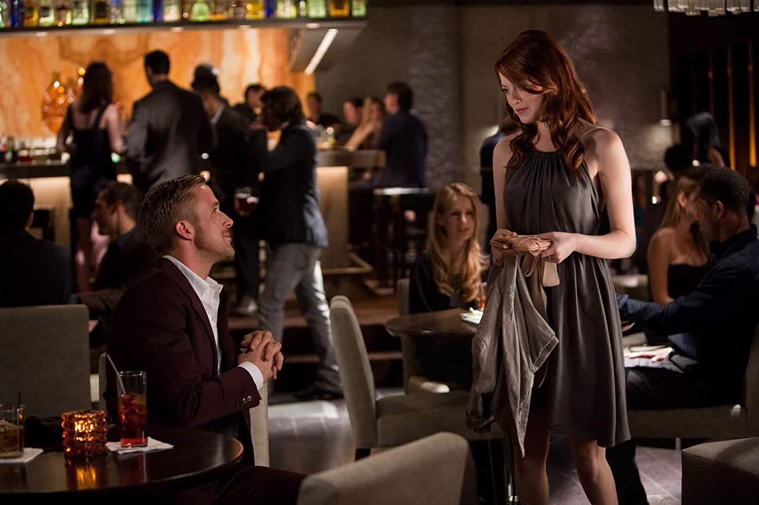 Ryan Gosling and Emma Stone in Crazy, Stupid, Love. (2011)