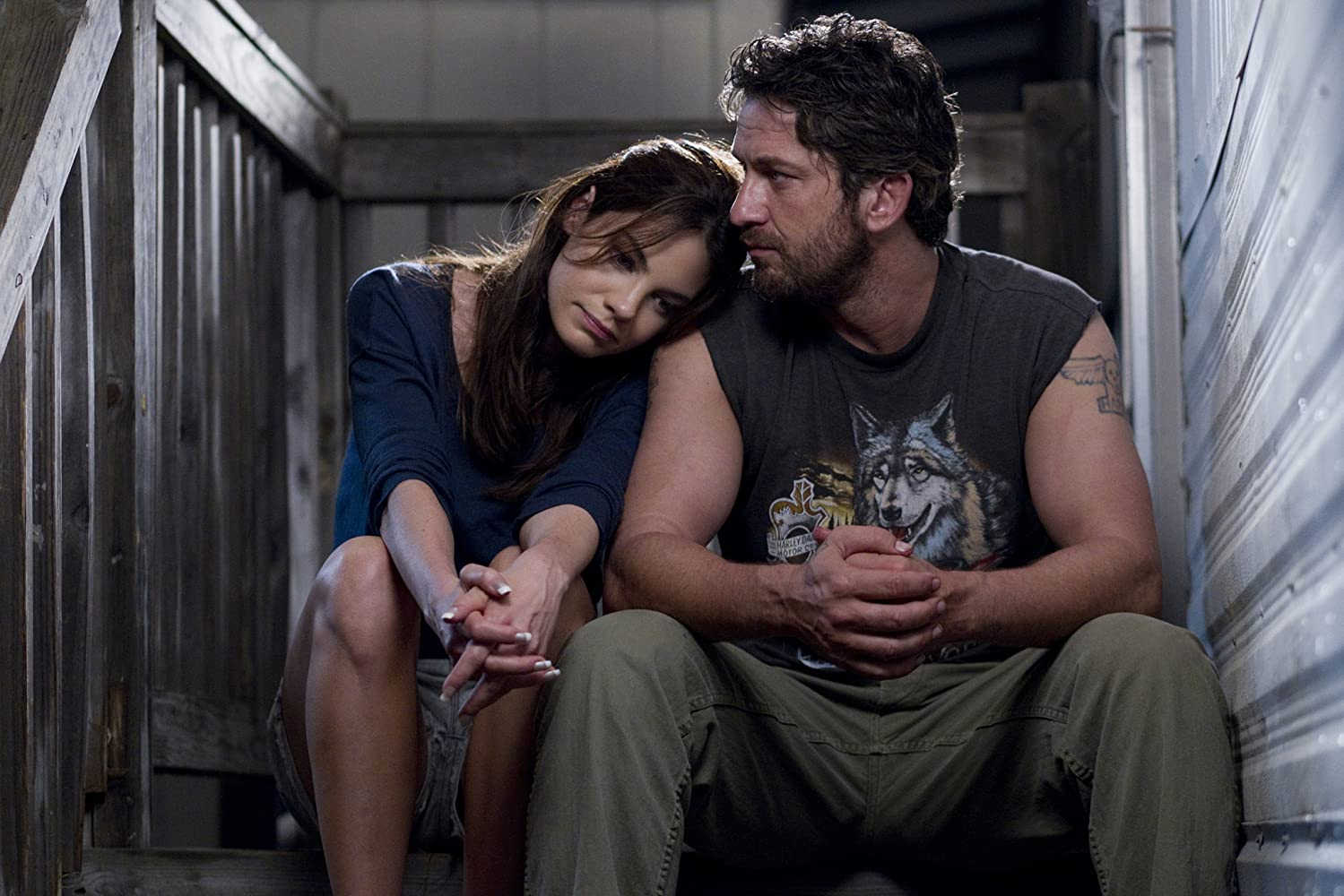 Gerard Butler and Michelle Monaghan in Machine Gun Preacher (2011)