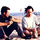 Kevin Keresey (left) and Michael McGee (right) between takes of a scene from 'The Rat Thing' (2007)