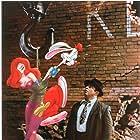 Kathleen Turner, Bob Hoskins, and Charles Fleischer in Who Framed Roger Rabbit (1988)