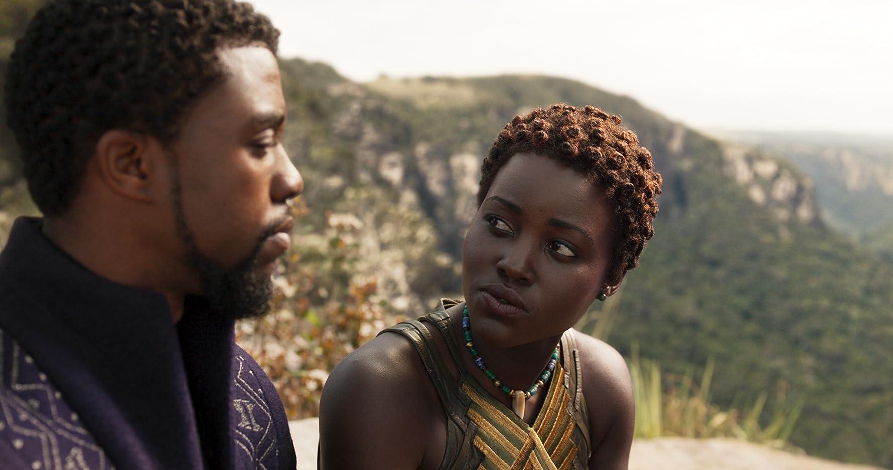 Chadwick Boseman and Lupita Nyong'o in Black Panther (2018)