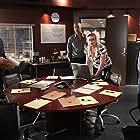 Joe Mantegna, Thomas Gibson, Shemar Moore, and Kirsten Vangsness in Criminal Minds (2005)