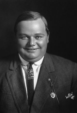 "Roscoe ""Fatty"" Arbuckle, c. 1920."