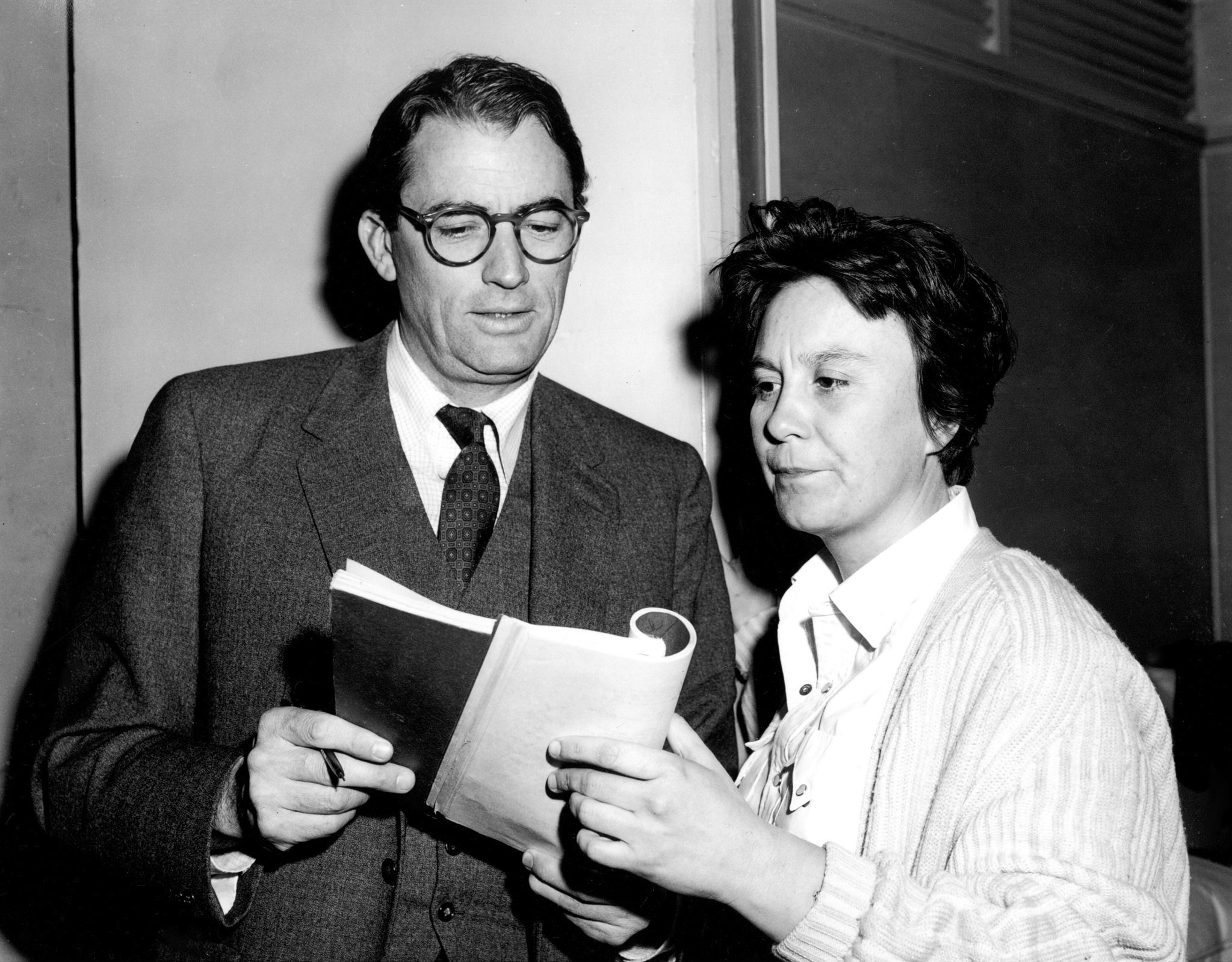 Gregory Peck and Harper Lee in To Kill a Mockingbird (1962)