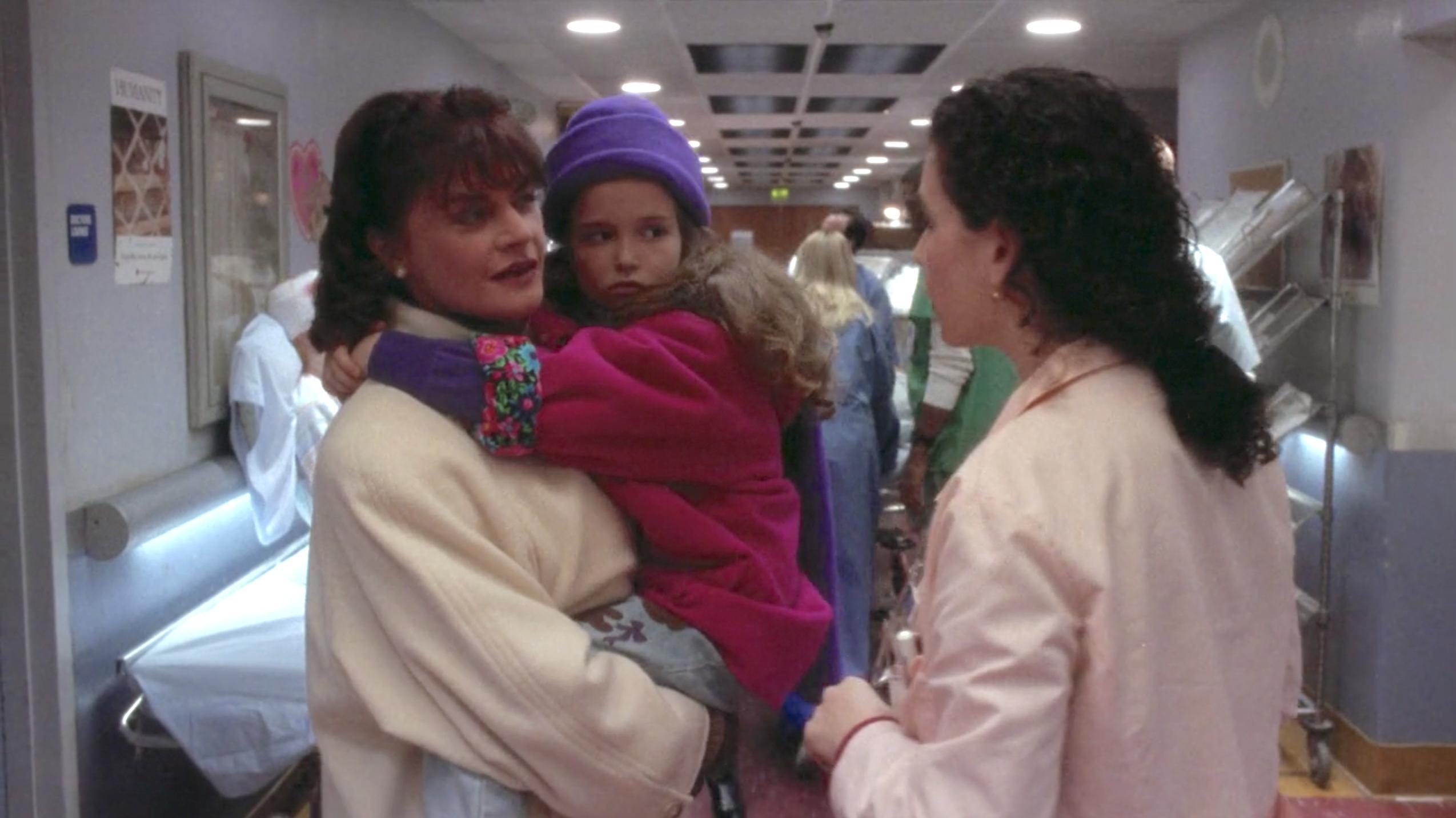 Julianna Margulies, Meg Foster, and Milana Vayntrub in ER (1994)