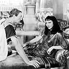 Claudette Colbert and Warren William in Cleopatra (1934)